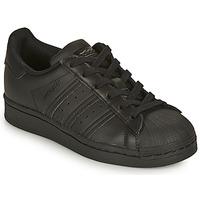 Schoenen Kinderen Lage sneakers adidas Originals SUPERSTAR J Zwart