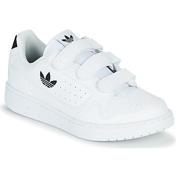 Schoenen Kinderen Lage sneakers adidas Originals NY 92  CF C Wit / Zwart