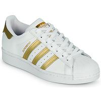 Schoenen Dames Lage sneakers adidas Originals SUPERSTAR W Wit / Goud