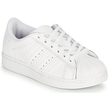 Schoenen Kinderen Lage sneakers adidas Originals SUPERSTAR C Wit