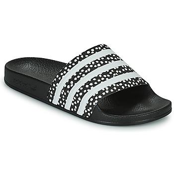 Schoenen Dames Slippers adidas Originals ADILETTE W Zwart / Wit