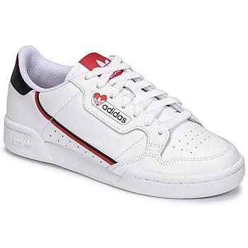 Schoenen Dames Lage sneakers adidas Originals CONTINENTAL 80 Wit / Rood