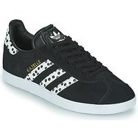 Schoenen Dames Lage sneakers adidas Originals GAZELLE W Zwart / Wit