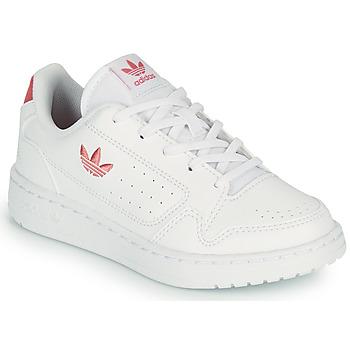 Schoenen Kinderen Lage sneakers adidas Originals NY 92 C Wit / Roze
