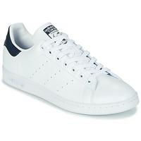 Schoenen Lage sneakers adidas Originals STAN SMITH SUSTAINABLE Wit / Marine