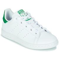 Schoenen Kinderen Lage sneakers adidas Originals STAN SMITH C SUSTAINABLE Wit / Groen
