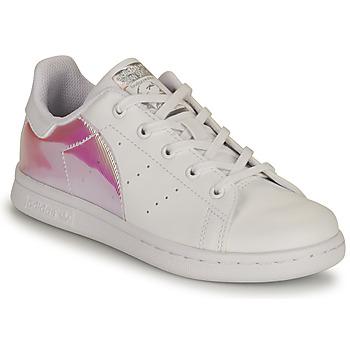 Schoenen Meisjes Lage sneakers adidas Originals STAN SMITH C SUSTAINABLE Wit / Roze / Iridescent