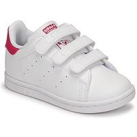 Schoenen Meisjes Lage sneakers adidas Originals STAN SMITH CF I SUSTAINABLE Wit / Roze