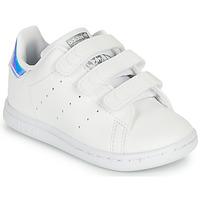 Schoenen Meisjes Lage sneakers adidas Originals STAN SMITH CF I SUSTAINABLE Wit / Iridescent