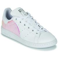 Schoenen Meisjes Lage sneakers adidas Originals STAN SMITH J SUSTAINABLE Wit / Iridescent