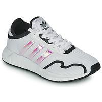 Schoenen Meisjes Lage sneakers adidas Originals SWIFT RUN X J Wit / Iridescent