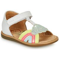 Schoenen Meisjes Sandalen / Open schoenen Shoo Pom TITY RAINBOW Wit
