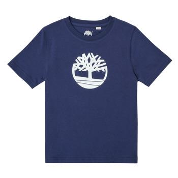 Textiel Jongens T-shirts korte mouwen Timberland TRISTA Blauw
