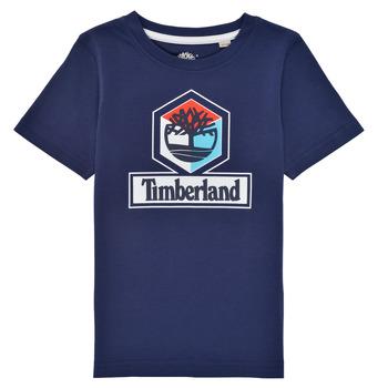 Textiel Jongens T-shirts korte mouwen Timberland GRISS Marine