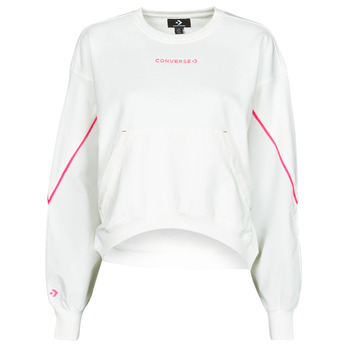 Textiel Dames Sweaters / Sweatshirts Converse BLOCKED ALTERRAIN CREW Wit