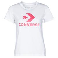 Textiel Dames T-shirts korte mouwen Converse STAR CHEVRON CENTER FRONT TEE Wit