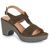 Schoenen Dames Sandalen / Open schoenen Adige ROMA V5 VELOURS MILITAR Kaki