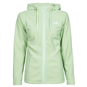 Textiel Dames Fleece The North Face W MEZZALUNA  FULL ZIP  HOODIE Groen