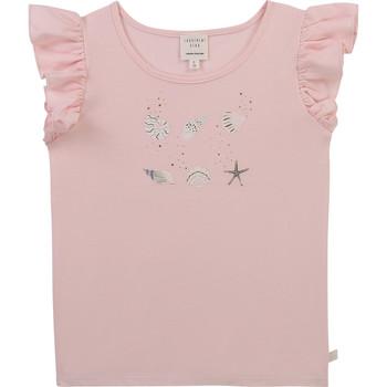 Textiel Meisjes T-shirts korte mouwen Carrément Beau Y15378-44L Roze