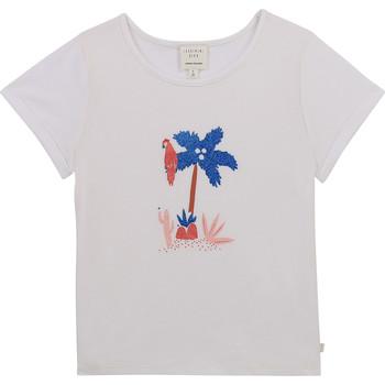 Textiel Meisjes T-shirts korte mouwen Carrément Beau Y15383-10B Wit
