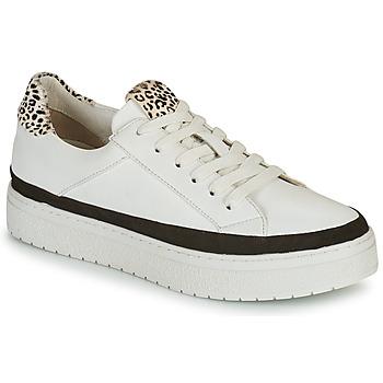 Schoenen Dames Lage sneakers Regard HENIN Wit / Zwart