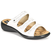Schoenen Dames Leren slippers Romika Westland IBIZA 66 Wit