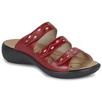 Schoenen Dames Leren slippers Romika Westland IBIZA 66 Rood