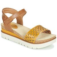 Schoenen Dames Sandalen / Open schoenen Josef Seibel CLEA 09 Brown / Geel