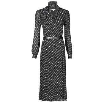 Textiel Dames Lange jurken MICHAEL Michael Kors CIRCLE LOGO SHRT DRS Zwart / Wit