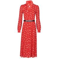 Textiel Dames Lange jurken MICHAEL Michael Kors SIGNTRE LOGO SHRT DRS Rood