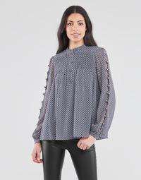 Textiel Dames Tops / Blousjes MICHAEL Michael Kors MINI FLORAL LS TOP Marine