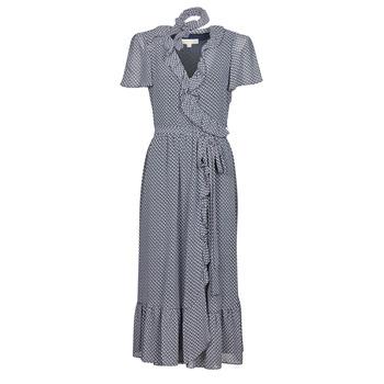 Textiel Dames Lange jurken MICHAEL Michael Kors MINI BICOLR 60S FLRL DRS Blauw