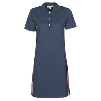 Textiel Dames Korte jurken MICHAEL Michael Kors SS LOGO TAPE POLO DRS Marine