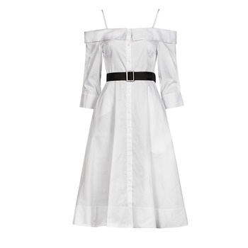 Textiel Dames Lange jurken Karl Lagerfeld COLDSHOULDERSHIRTDRESS Wit