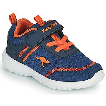 Schoenen Jongens Lage sneakers Kangaroos KY-CHUMMY EV Blauw / Orange
