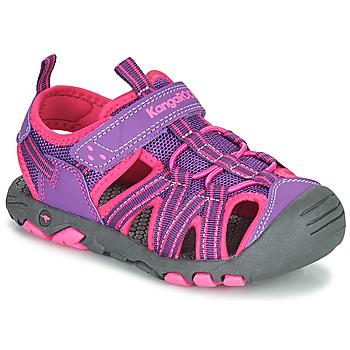 Schoenen Meisjes Sandalen / Open schoenen Kangaroos K-ROAM Roze / Grijs