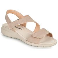 Schoenen Dames Sandalen / Open schoenen Damart 67808 Beige / Roze