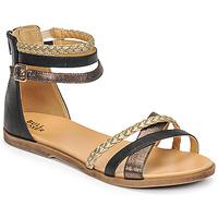 Schoenen Meisjes Sandalen / Open schoenen Bullboxer ALM013F1S-ROSE Zwart