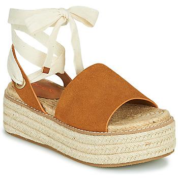 Schoenen Dames Sandalen / Open schoenen Emmshu SEARA Cognac