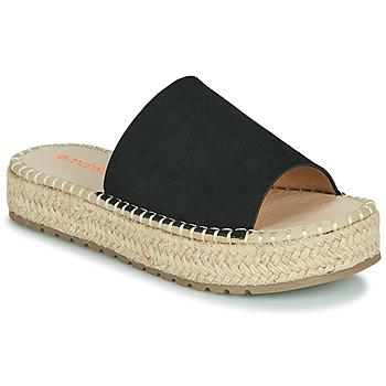 Schoenen Dames Leren slippers Emmshu TAMIE Zwart