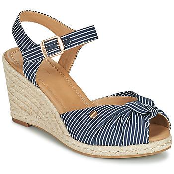 Schoenen Dames Sandalen / Open schoenen Esprit ELIN Blauw / Wit
