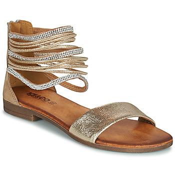 Schoenen Dames Sandalen / Open schoenen IgI&CO BRONIA Goud / Cognac