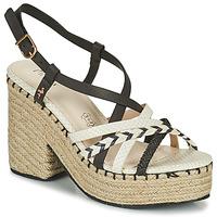 Schoenen Dames Sandalen / Open schoenen Menbur BALMUCCIA Zwart / Wit