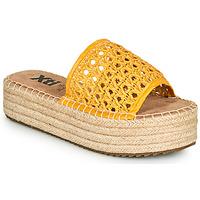 Schoenen Dames Leren slippers Xti FREDI Geel