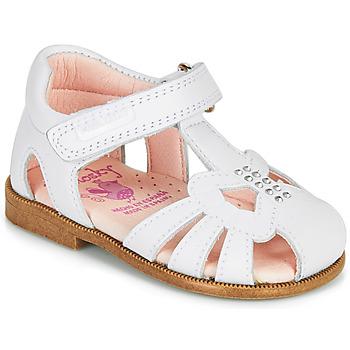 Schoenen Meisjes Sandalen / Open schoenen Pablosky PAMMO Wit