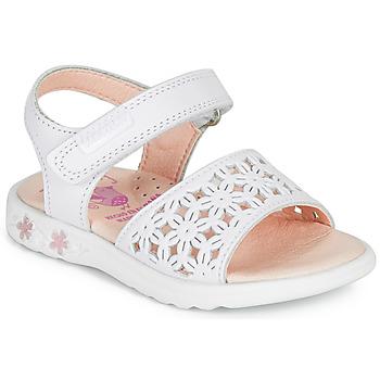 Schoenen Meisjes Sandalen / Open schoenen Pablosky DROSSI Wit / Roze