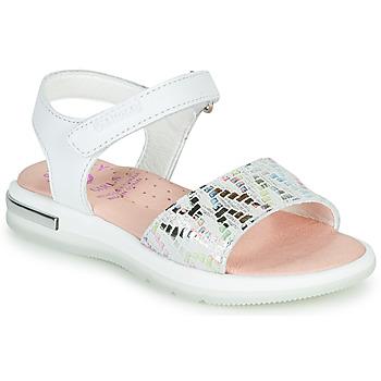 Schoenen Meisjes Sandalen / Open schoenen Pablosky CAMMI Wit / Multikleuren
