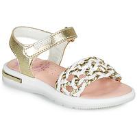 Schoenen Meisjes Sandalen / Open schoenen Pablosky DANIE Goud / Wit