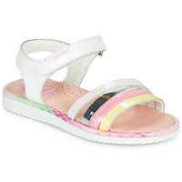 Schoenen Meisjes Sandalen / Open schoenen Pablosky MOUNNA Wit / Roze