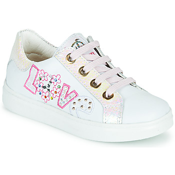 Schoenen Meisjes Lage sneakers Pablosky AMME Wit / Roze